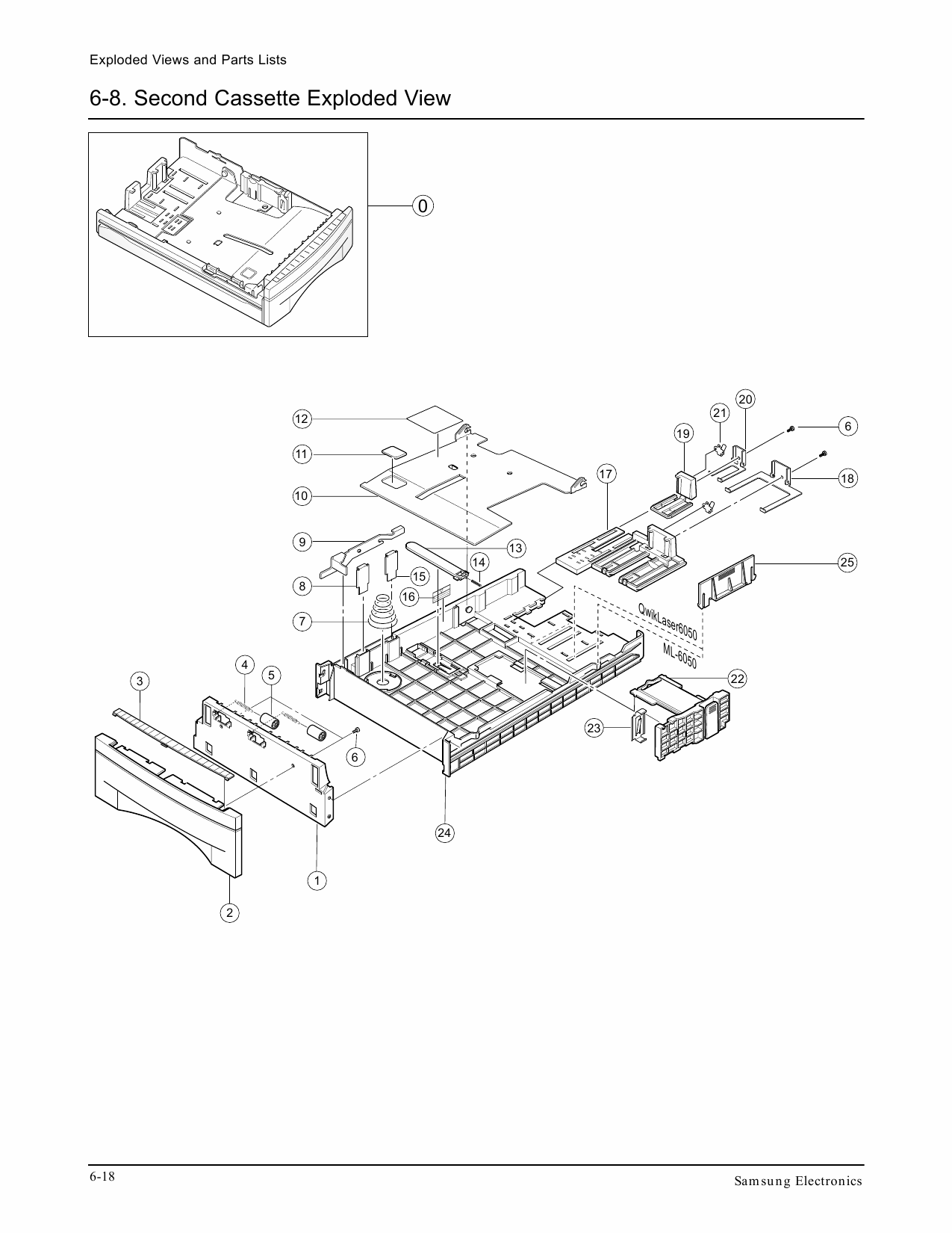 Samsung Laser-Printer ML-6050 Parts Manual